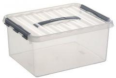 Q-Line Opbergbox Large 15 L Transparant