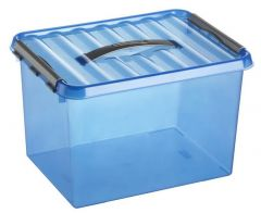 Q-Line Opbergbox Large 22l 400x300x260 mm Ocean Blue