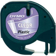 Dymo Letratag Tape 12Mm Plast Transp