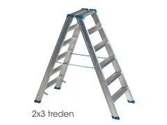 Ind. Trapladder 2X3 Treden Dubbel