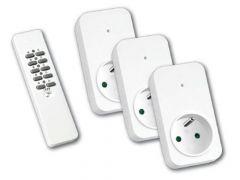 3 RF stopcontact met afstandsbediening