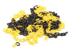 Geel/zwarte ketting - 10m
