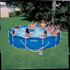Intex 56996 Frame Pool 366X76 + Pomp 12V