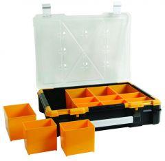 Plastic Opbergkoffer met Uitneembare Vakjes - 49x42x12