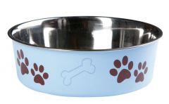 Hondenpot inox bella 21 cm blauw