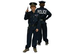 Kostuum Politie + Kepie + 2Acc 128