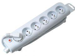 6 voudig stopcontact wit (type 2)