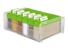 Spice Box Kruiden Doos Transp./Groen