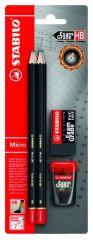 Stabilo 4 Pencils Hb + 1 Gom + 1 Scherper