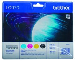 Brother Bundle Lc970Bk/C/M/Y