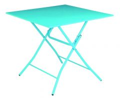 Vouwtafel Metaal Blauw 80X80Cm