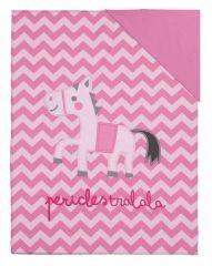Jumper Donsovertrek Junior Zigzag Pink