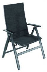 Leonardo verstelbare stoel alu/textylene