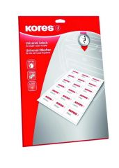 Kores Inkjet Laser Copier Labels 38.1X21.2Mm 25St