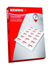 Kores Inkjet Laser Copier Labels 63.5X38.1 100St