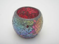 K East Star Glass Mosaic Candle Holder Re D8 H7