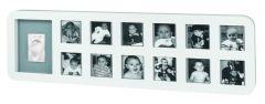 Baby Art First Year Print Frame White&Grey