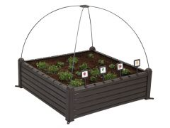 Gardenbed Kunststof Kruidentuin 99.5X99.5Xh34Cm Brown