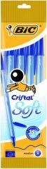 Bic Cristal Soft Blauw 4St