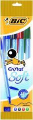 Bic Cristal Soft Assorti 4 Stuks