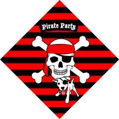 Piraten Servetten 33X33Cm 20 Stuks
