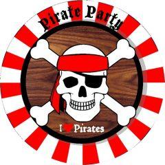 Piraten Borden 23Cm 8 Stuks