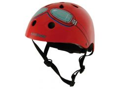 Kiddimoto fietshelm Red Goggle