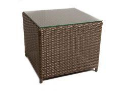 Milano Bijzettafel Wicker H45 D50 L50 Mixed Brown