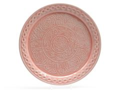 Z Metalen Deco Bord Relief 42Cm Pink