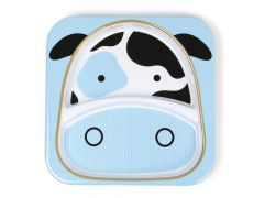 Zoo Divided Plate Cow
