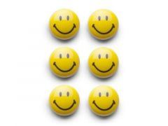 Magneet Set 6-Delig Smiley 3Cm