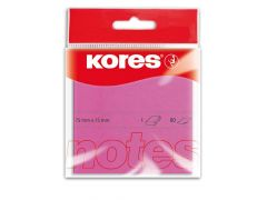 Kores Magenta Blok 100 Memo Notes 75X75Mm