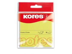 Kores Yellow Blok 100 Memo Notes 75X75Mm