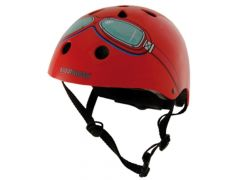 Kiddimoto Fietshelm Red Goggle Medium