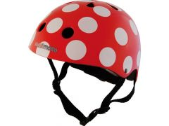 Kiddimoto Fietshelm Dotty Rood Medium