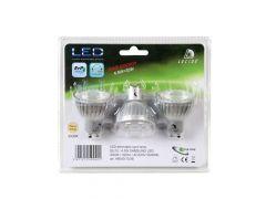 Lucide Lamp Led 3X Gu10/4,5W Dimbaar Blister 3000K Zilver