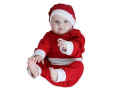 K Kerstkledij Onesie Met Muts Maat 0-1Jr