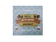 Balloons & Cupcakes Sticker Wil Jij Mijn Meter Worden
