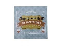 Balloons & Cupcakes Sticker Jij Bent De Tofste Peter