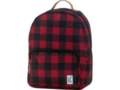 The Pack Classic Backpack Black And Red Checks Allover