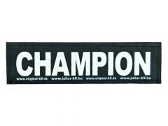 2 Julius-K9 Velcro Stickers Champion L/16X5Cm