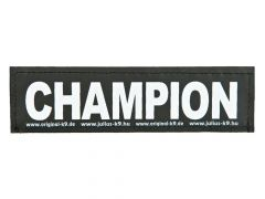 2 Julius-K9 Velcro Stickers Champion S/11X3Cm