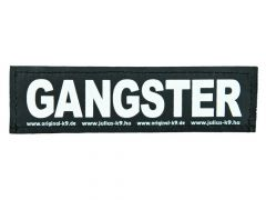 2 Julius-K9 Velcro Stickers Gangster L/16X5Cm