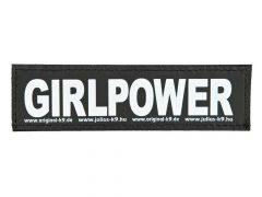 2 Julius-K9 Velcro Stickers Girlpower S/11X3Cm