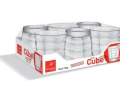 Cube Waterglas 24Cl Set/6