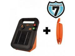 Schrikdraadapparaaat S16 Inc. Batterij Gratis.Stander