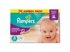 PAMPERS ACTIVE FIT JUMBO MIDI 74ST