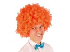 Pruik Gr. Krullenbol Oranje