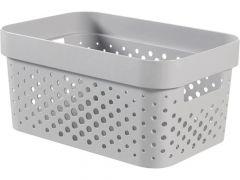 Curver Infinity Box 4.5L Dots Grijs 26X18Xh12Cm