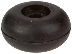 2St Rubber Deurstop Zwart+Plug30Mm